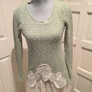 Modcloth Ryu green Tulle Sweater knit dress
